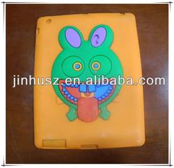 Unique Design Funny Rabbit Silicone Shell Case For ipad Mini for iPad 2/3