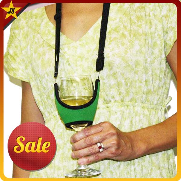 Neoprene Wine Glass Holder Neoprene Wine Glass Neck Strap