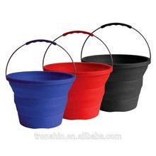 Eco-Friendly Silicon Portable Folding beach bucket/Hand bucket/collapsible bucket