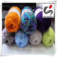 100% hilo de tejer a mano de hilo de Color sólido
