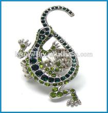 diamond stretch eternity lizard shape animal band rings jewelry