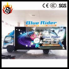 6 Seats Mobile 7D Cinema , Exiciting truck Cinema Snow/Bubble Simulation