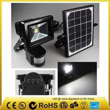 Solar security light 10W led flood light with PIR motion sensor motion& pir sensors &led