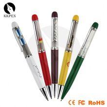 liquid light up pen pen with logo 3d