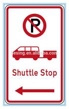 reflective New Zealand regulatory tram stop road signs,New Zealand road signs