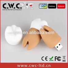 Import export tooth usb key pvc flash pen drive 1GB to 32GB logo print