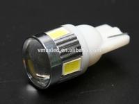 super bright auto led T10 5630 lens bulb car led t10 194 w5w bulbs 12V 24V car led bulb