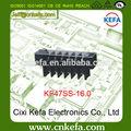 Libre de la muestra de tono kf47ss-16.0mm barrera de bloques de terminales con la cubierta del tornillo& 600v 65a