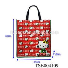 2014 hello kitty huge capacity portable fashion shopping bag