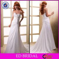 2014 Simple A-line Chiffon Discount Wedding Dresses Whole Sale China