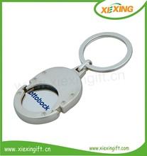 brand car coin logo metal key chain coin holder