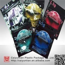 zero gravity 1.5g,3g,12g aluminum foil herbal incense bag