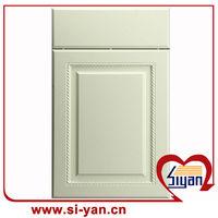 mdf doors plastic moulding for kitchen cabinet