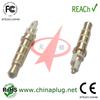 Wholesale 22L 3.5mm white gold plated quadrupole electrical plug connectors