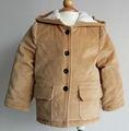 100% velours de coton garçons manteau d'hiver