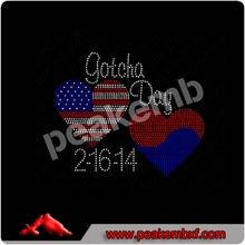 Rhinestone Korea stones flag hearts shirt custom designs Wedding dresses 2014