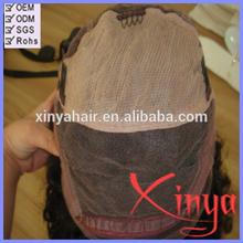 100% human hair 150% density natural black big/small/medium cap curly hair full lace wigs
