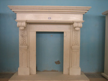 Inventory stone marble fireplace mantel for sale