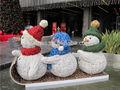 escena de navidad pvc muñeco de nieve de las plantas de la decoración