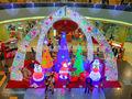 Escena de interior cajas de regalo luces led/del árbol de navidad decoración