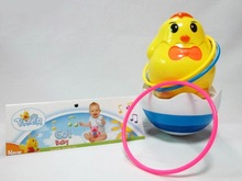 cute animal chick roly poly toy music/ light / circle