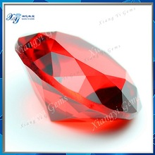 15mm Bulk wholesale new style large bright red round brilliant cut synthetic glass crystal stone ruby prices crystal chandelier