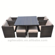 10037 wicker dining tables and chairs
