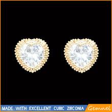 screw back earrings heart pierced earrings screw back