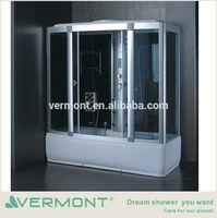High quality quadrant steam integral shower cubicle plastic cabin