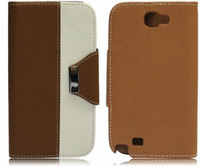 Dual Color Wallet Style Flip Leather Case for Samsung i9500 Galaxy S IV S4 Samsung i9505/i9508 with Card Slots
