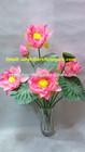 china guangzhou shengjie/artificial flower pot/artificial pink lotus flower indoor