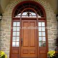 euro arco de madera maciza puerta de entrada de vidrio insertar