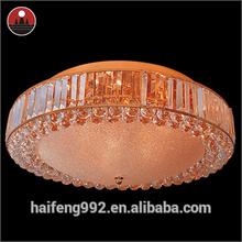 Golden crystal ceiling lamp for hotel decoration