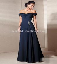 2014 yeni stil- Line mavi şifon omuz anne gelin elbise uzun abiye ed0274