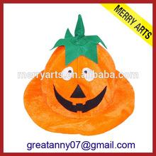 2014 china hot new yellow christmas halloween pumpkin hat costumes