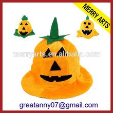 cheap halloween hats design yellow pumpkin hat made in china