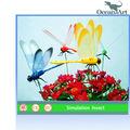 Parque de atracciones realista dinosaurios animatronic libélula