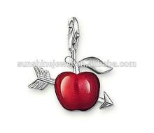 Fashion TS design the arrow of love red apple charm