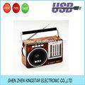Rs-603u portátil de madera del mundo receptor de banda de radio con la luz de emergencia