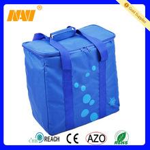 Dark blue color 70D polyester portable cooler bag