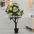 branca flor artificial falso azaléias da árvore da flor com o melhor preço fornecedor china
