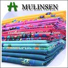 Mulinsen Textile Border Design Placement Printed 60s Voile Cotton Fabrics Trading Companies