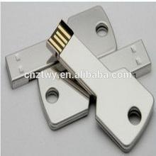 Blank metal key shape usb flash memory,free logo printing usb key