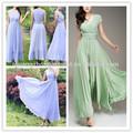 2014 nova moda praia do verão feriado extra grande hem Chiffon Maxi vestido plus size em massa vestido made in china preço barato