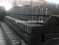 q195 q235 negro laminado en frío de tubos de acero rectangulares para la estructura