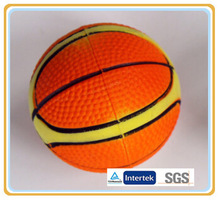 Good quality and printing rubber foam basketball with Customs