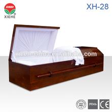 XH-28 White Velvet Funeral Caskets