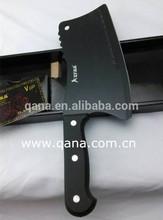 Sharp black stainless steel butchery knife