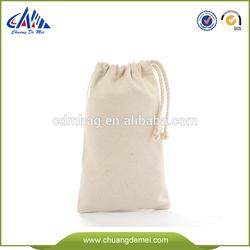 white cotton canvas drawstring shoe bag for wholesale