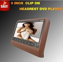 1 years warranty 9 inch wide screen remote control headrest
